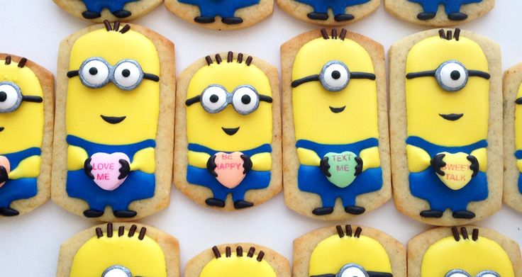 How To Decorate Minion Cookies for Valentine's Day! (+playlist)