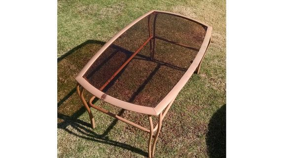 Vintage Coffee Table Mid-Century Wrought Iron by Times3Vintage