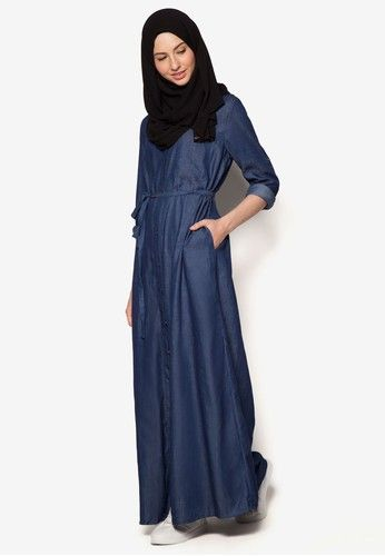 Denim Shirt Dress from Zalia in blue_5
