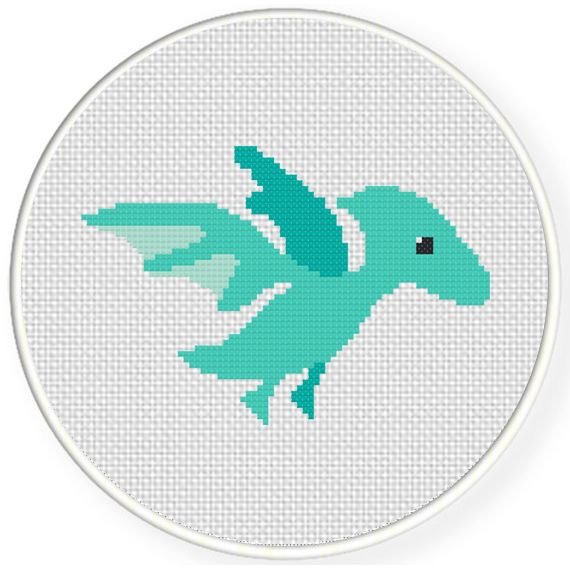 FREE for August 8th 2016 Only - Baby Pterodactyl Cross Stitch Pattern