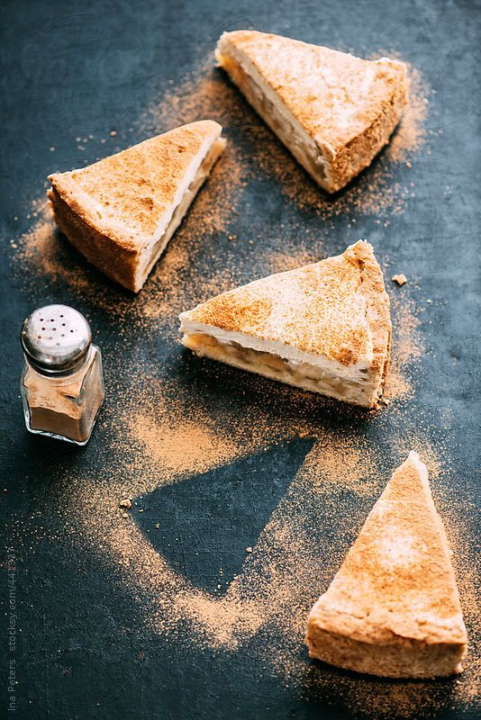 Food: Pieces of Apple-Cider Tart, Apfelweintorte by Ina Peters for Stocksy United
