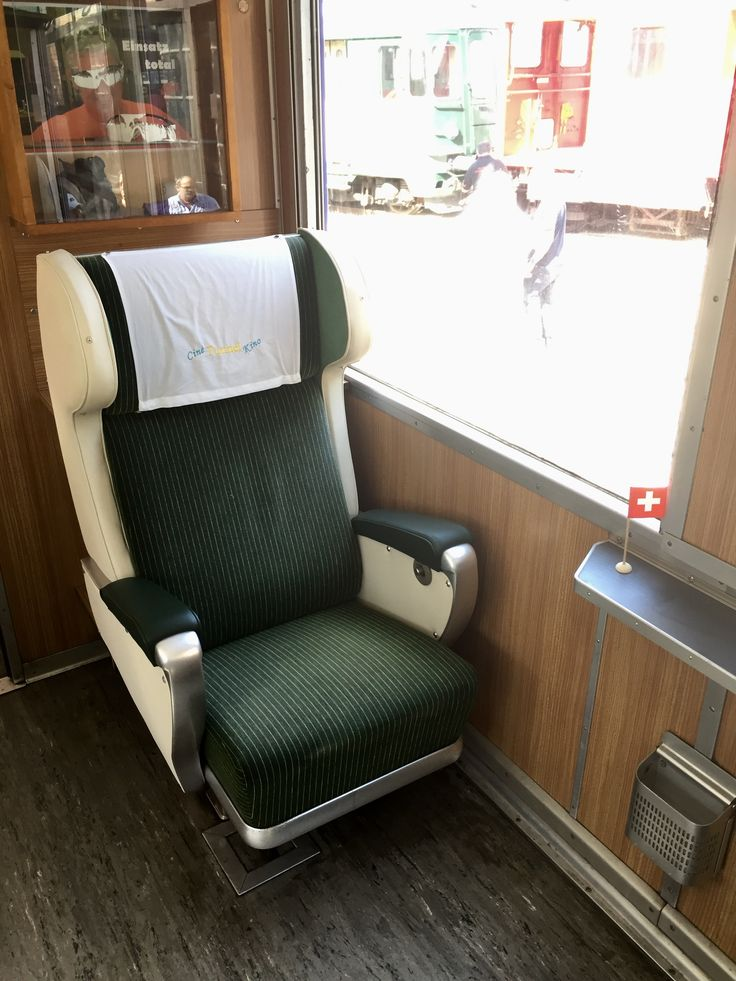 Swiss Rail First class seat