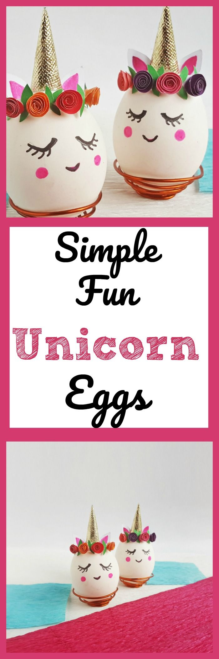 This beautiful Easter Eggs craft is an adorable Unicorn Egg that is an easy Unicorn craft for kids. Make a DIY Unicorn egg for unicorn parties too.  #unicorn #craft  via @debitalks