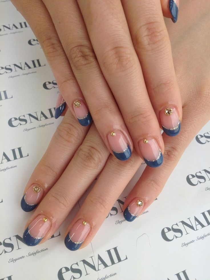 Blue about nails.