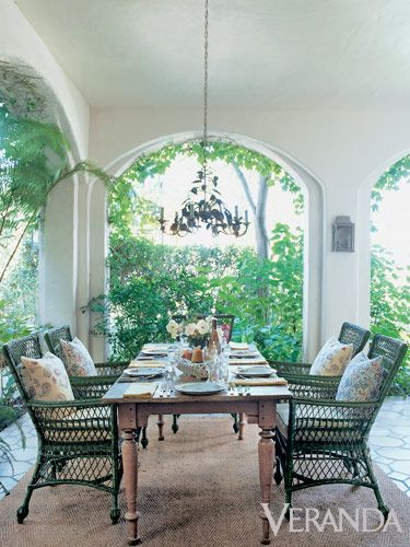 Pretty outdoor dining space.
