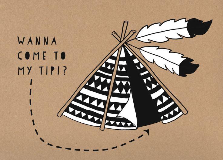 Postcard Tipi by Andrea Maassen