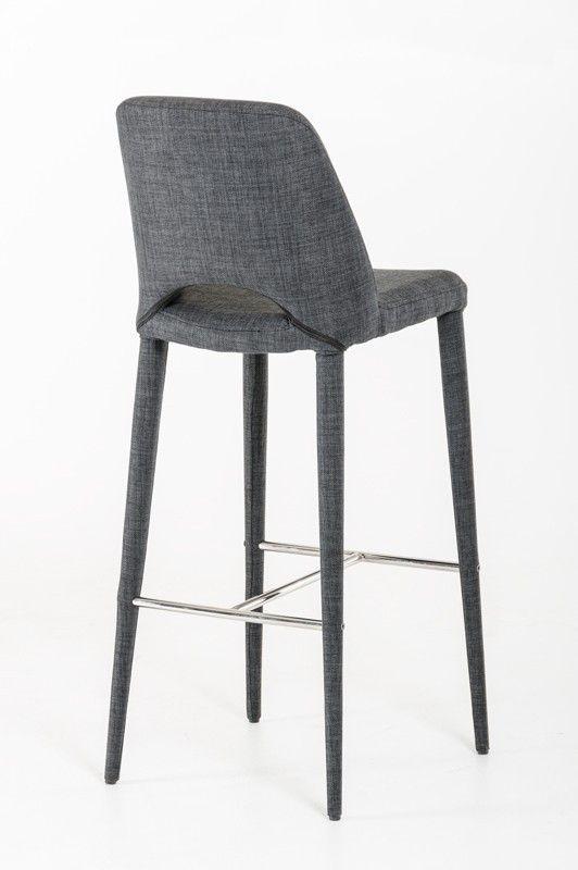 Nice Modrest Williamette Mid Century Dark Grey Fabric Bar Stool