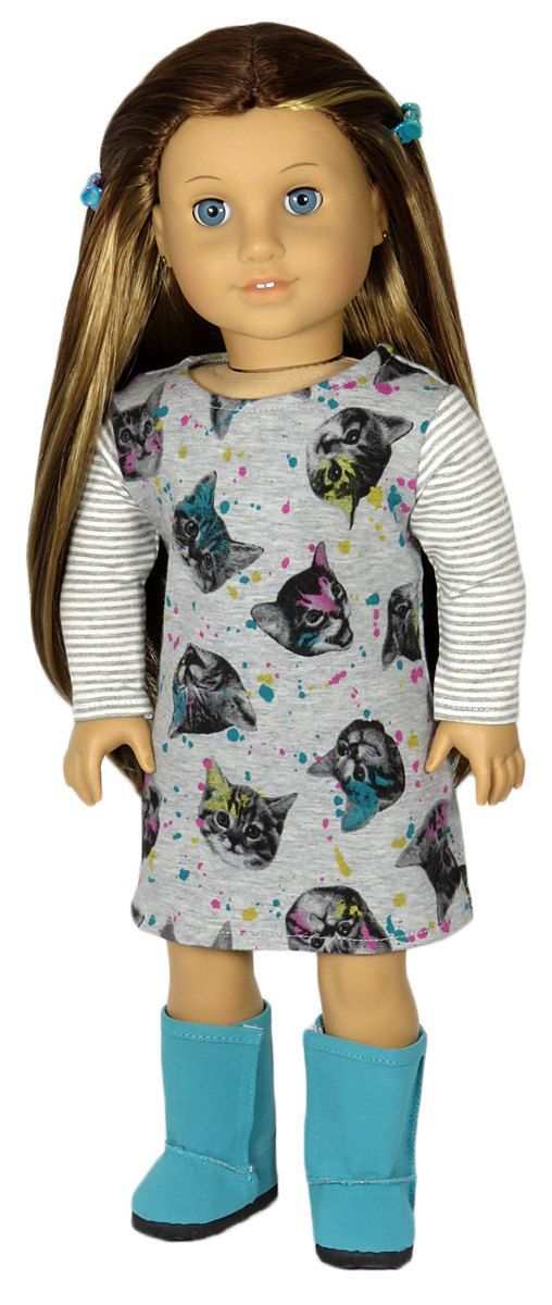 American-Made Girl Doll Clothes. Grey by SillyMonkeyFashions