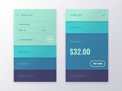 Dribbble - Checkout Interface by Gal Shir