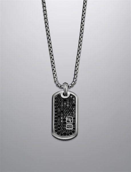 SODIAL(R) Jewelry Mens Necklace, 2 Style Dog Tag Pendant with 68 cm Chain, Black Silver
