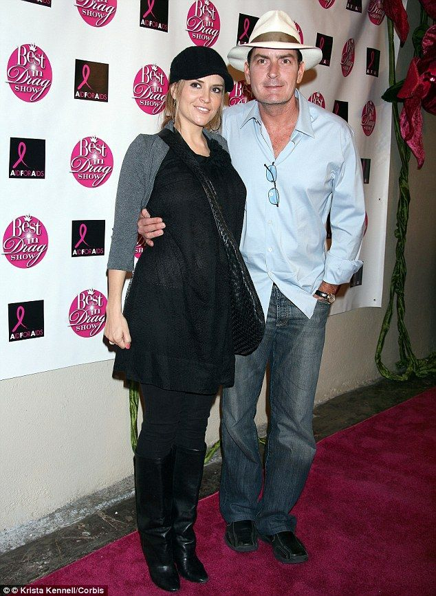 Sheen and Mueller (pictured here in 2008 when Mueller was pregnant), were married on May 3...