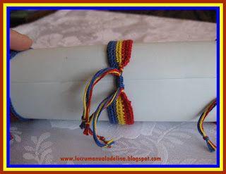 lucru manual adelina: Bratari Tricolor ROMÂNIA crosetate
