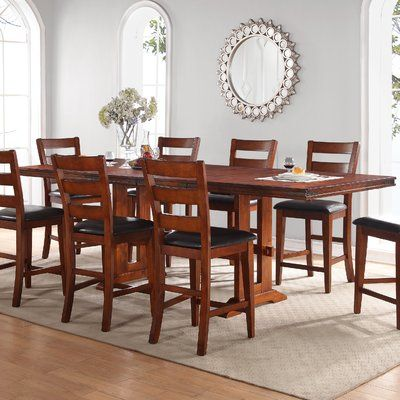 Loon Peak Magellan Solid Wood Dining Table Products Solid Wood