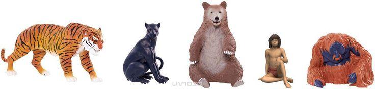 Jungle Book Набор фигурок Маугли, Багира, Балу, Король Луи и Шерхан