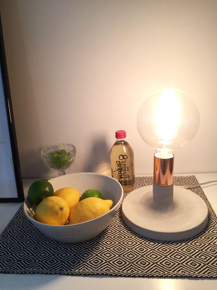 Home, interior, lemon, lime, lamp, copper, watt och veke, bulb, ice tea, ittala,