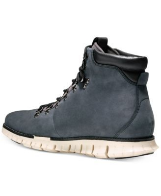 Cole Haan Men's Zero Grand Hiker Water Resistant Ii Boots - Gray 11.5