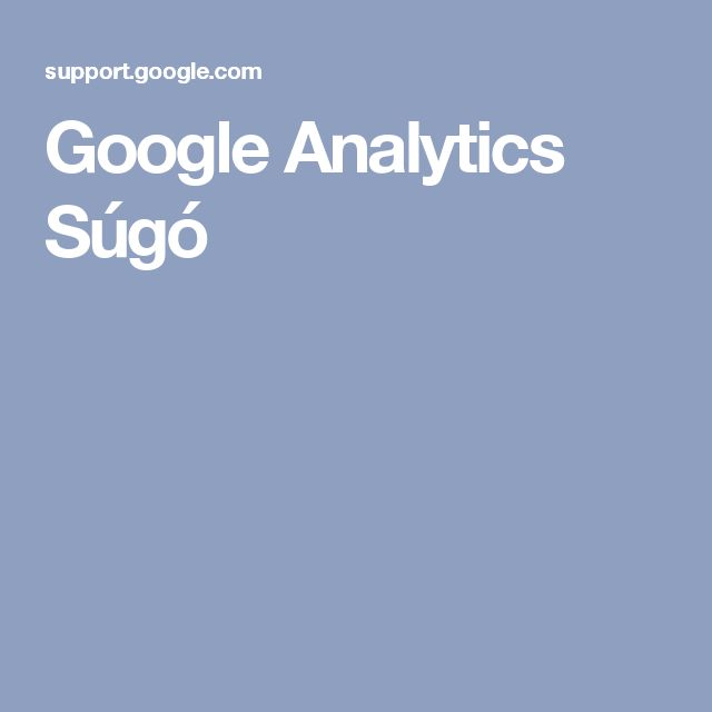 Google Analytics Súgó