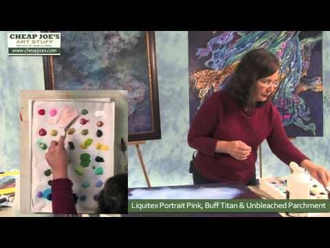 ▶ Debbie Arnold- Golden Tar Gel Medium Process (Part 1) - YouTube