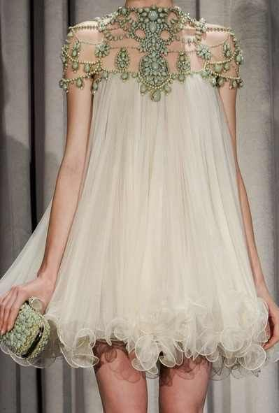 Marchesa Spring 2011 , A bit too Baby Doll, but fabulous execution.