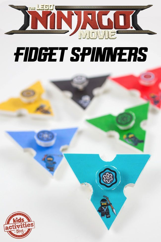 It's time for some movie fun and these printable LEGO NINJAGO Fidget Spinners are just the thing to get your kids excited about seeing the movie!
