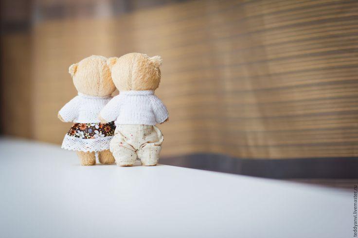 Купить Фразы Любви..) - тедди, мишка ручной работы, тедди в подарок, подарок девушке