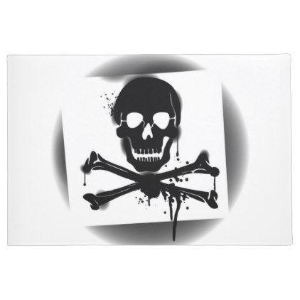 #Pirate Flag Skull and Crossbones Jolly Roger Doormat - #doormats #home & #living