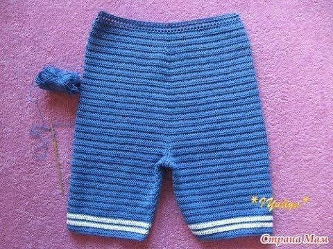 "Вязаный костюм ""Морячок"" Ч.2. Мастер-класс. Crochet for Boys. tutorial"