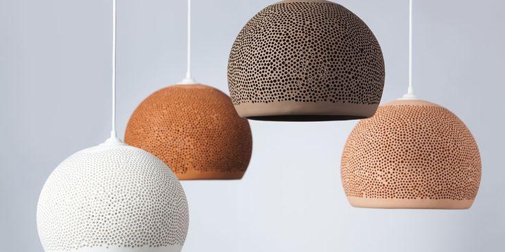Handgemaakte hanglamp van keramiek