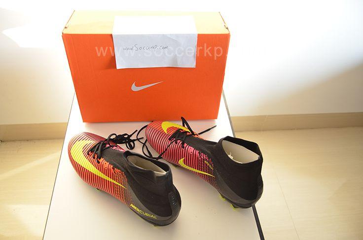 Nike Mercurial SuperFly V FG Soccer Cleats (Total Crimson/Volt/Black/Pink Blast)