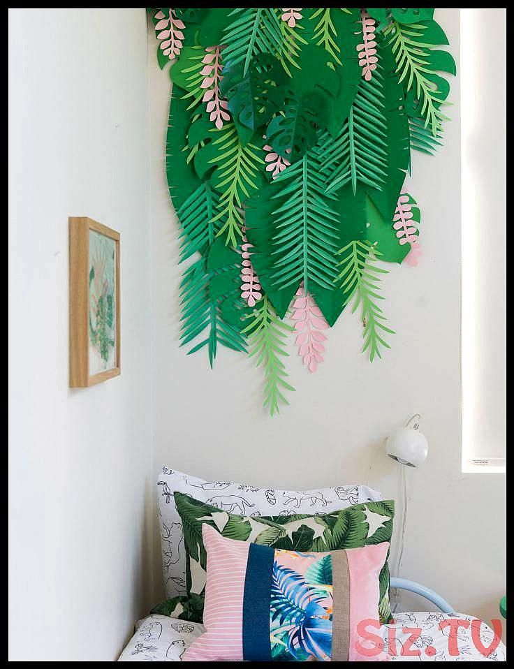A Neutral Guest Bedroom Is Transformed Into Tropical Kid S Room