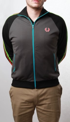Fred Perry Twin Tape Color Block Men's Track Jacket