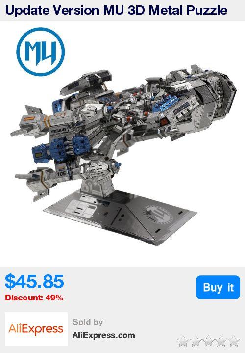 Update Version MU 3D Metal Puzzle Battle Cruiser Battleship BC-S01 DIY 3D Metal Puzzle Kits Laser Cut Models Jigsaw Toys * Pub Date: 09:32 Oct 21 2017