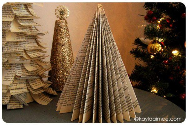 Paperback Christmas Tree Tutorial