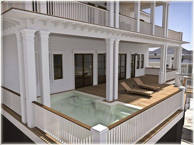 Beach house pool