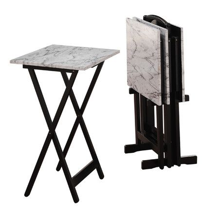 Found it at AllModern - TV Tray Set //www.allmodern.com/deals-and-design-ideas/p/Marble%2C-Metallics-%26-More-TV-Tray-Set~AMST6043~E23425.html?refid=SBP.rBAZEVX0okhA3wqDwk2gAmtkDL47u0n8rHPbaP6PxE0