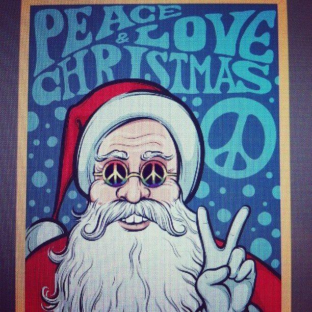 ➳➳➳☮American Hippie Art - Peace  Christmas