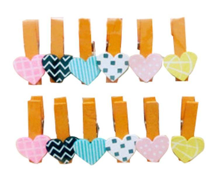 Set Of 2 Wooden Clip Decorative Clip Photo Folder Wooden Clip Photo Folder