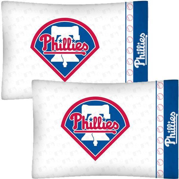 MLB Philadelphia Phillies Baseball Set of 2 Pillow Cases