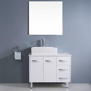Art Exhibition Shop for Virtu USA Tilda inch White Single Sink White Stone Vanity Set