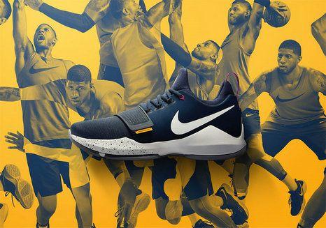 Popular 2017 New Basketball Style Nike PG 1 Ferocity Paul George Obsidian University Gold Hyper Violet Wolf Grey 878627-417
