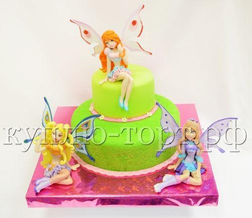 торт феи винкс ребенку на дерь рождения фото