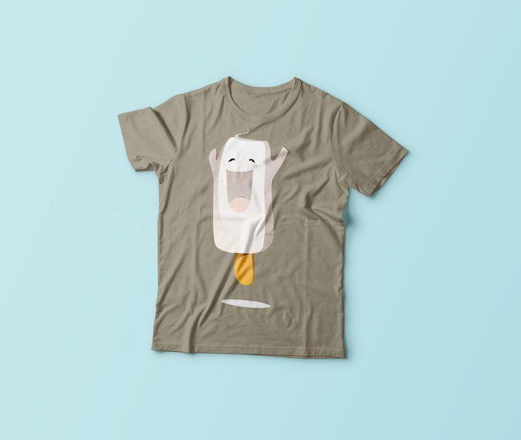 Grafika na koszulki / Grafiki przedstawiające trzy zabawne postaci - jedzenie, promująca bloga o tematyce kulinarnej.