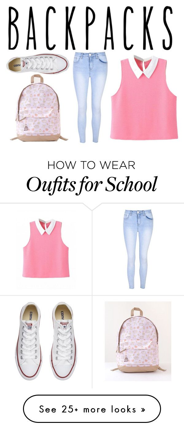 Back To School by kateevenz on Polyvore featuring Glamorous, Converse and Pusheen