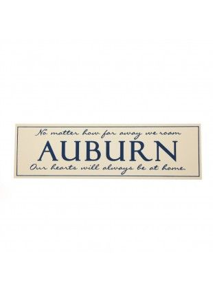 Auburn Wooden Sign Blue On Cream Auburn Home Office