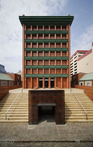 Monumental stairs - Hotel Il Palazzo, Fukuoka, Japan - Aldo Rossi