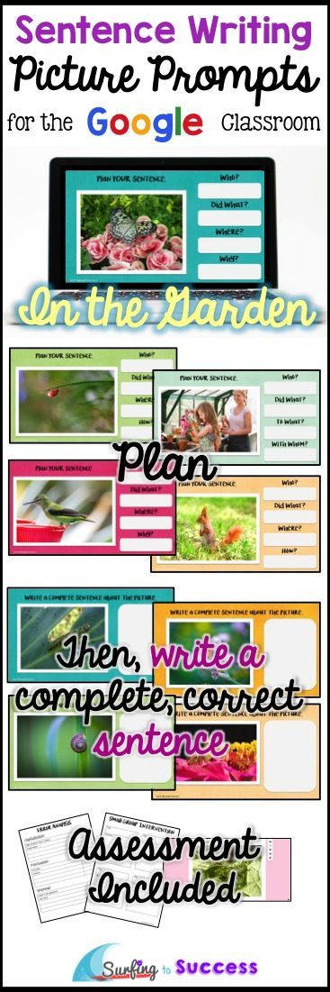 Can your students write complete correct sentences? With this digital resource, students type a sentence while responding to picture prompts. A planning prewrite page is provided before students write their complete sentence. Use Google Slides in your Google classroom. Works well for elementary students and ELLs (English Language Learners).