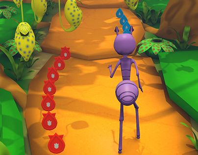 """Check out new work on my @Behance portfolio: """"The Ant Run - 3D game concept"""" http://on.be.net/1KuAuJm"""