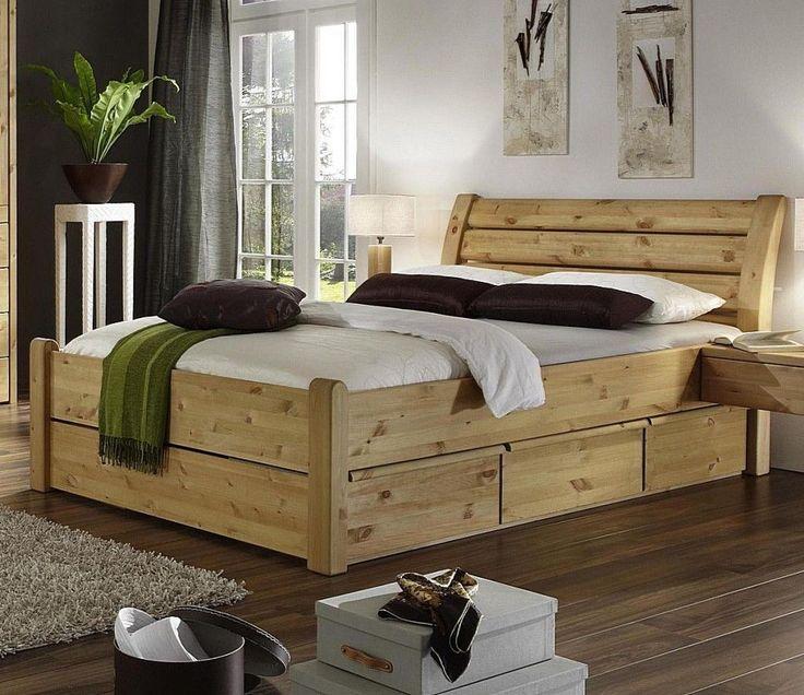 Doppelbett 200x200 mit 6 Schubladen schubkasten bett holz Kiefer massiv gelaugt in Möbel & Wohnen, Möbel, Betten & Wasserbetten | eBay