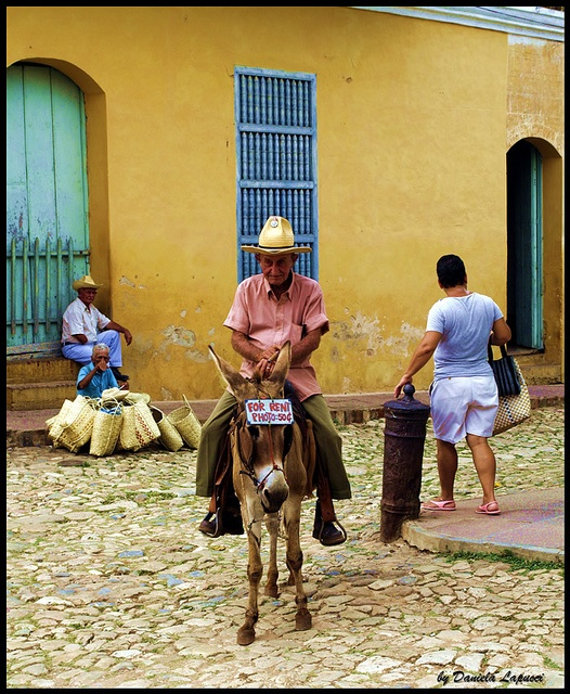 Rent a donkey. I believe this is somewhere in Cuba.