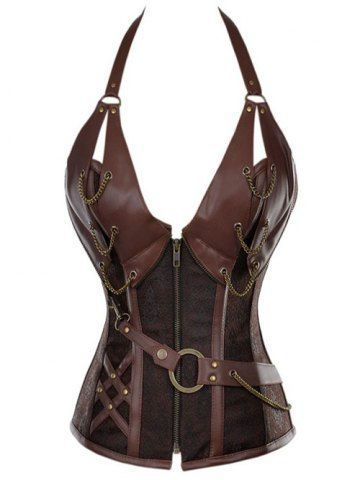 Steampunk!!! GET $50 NOW | Join RoseGal: Get YOUR $50 NOW!http://m.rosegal.com/corset-bustiers/vintage-halter-faux-leather-corset-781565.html?seid=2671318rg781565